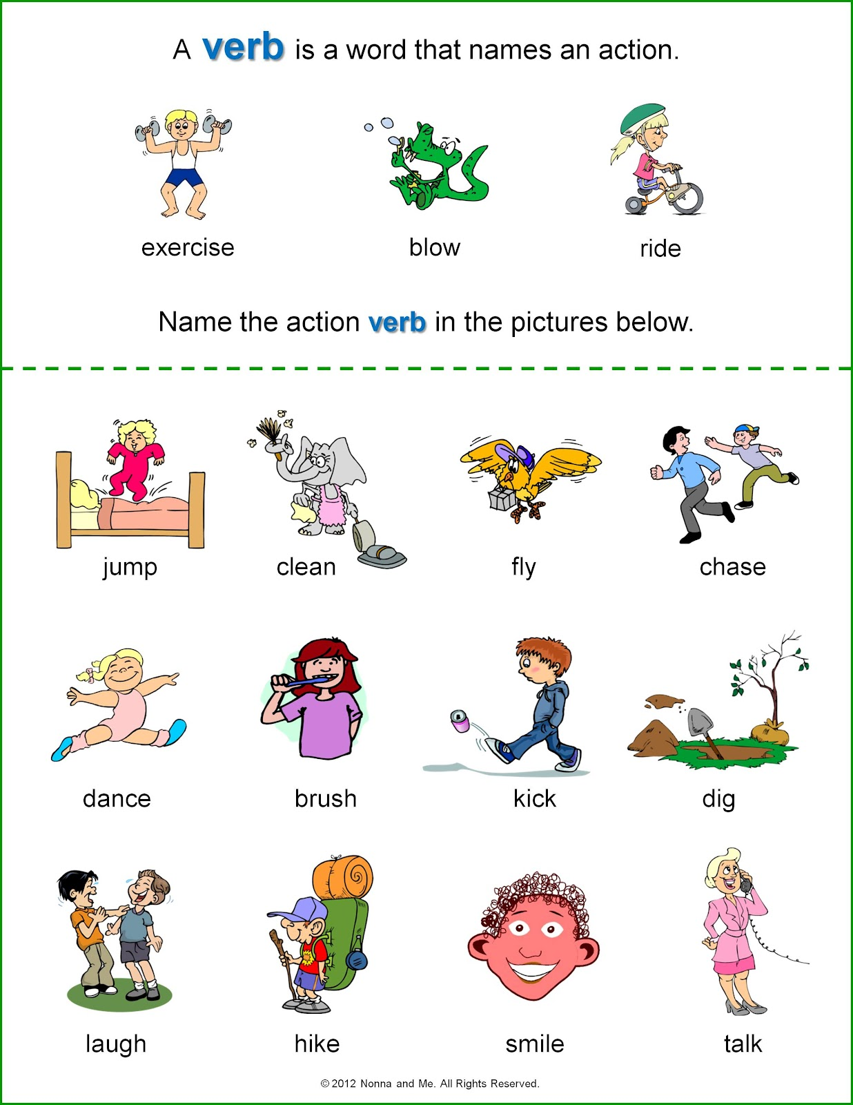 Arab Unity School | Grade 1 C | Blog: English - Verbs worksheets