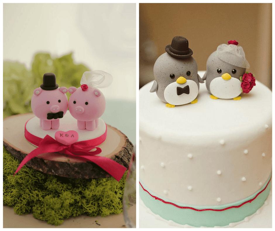 сладки фигурки за сватбената торта във формата на животинки