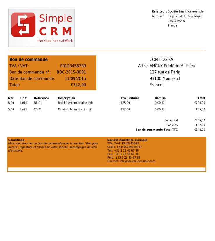 Copie 233 Cran Logiciel Simple Crm Mod 232 Les De Devis Bons De