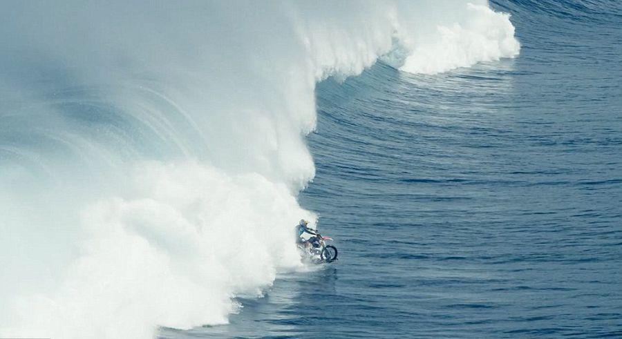 Australian motorcycle stunt rider Surfing thrills
