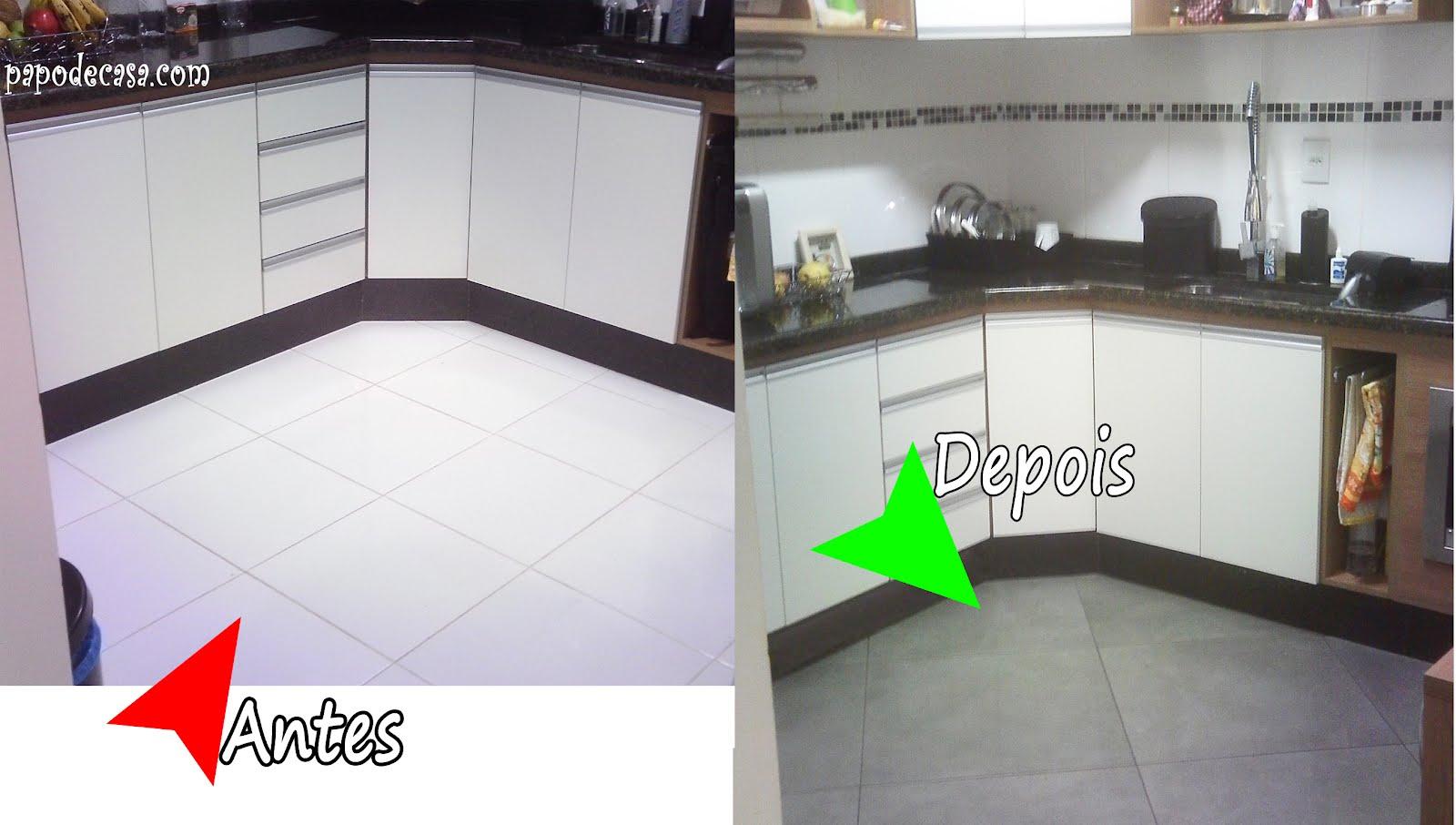 decoracao piso branco:Antes/Depois: Piso da cozinha! – Decorações e Artes