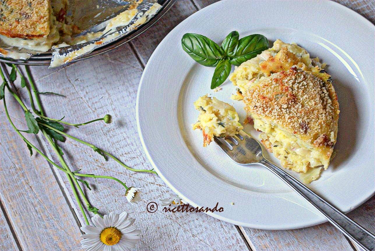 Gatò o Gattò tortino di patate ricetta tradizionale ottimo piatto unico