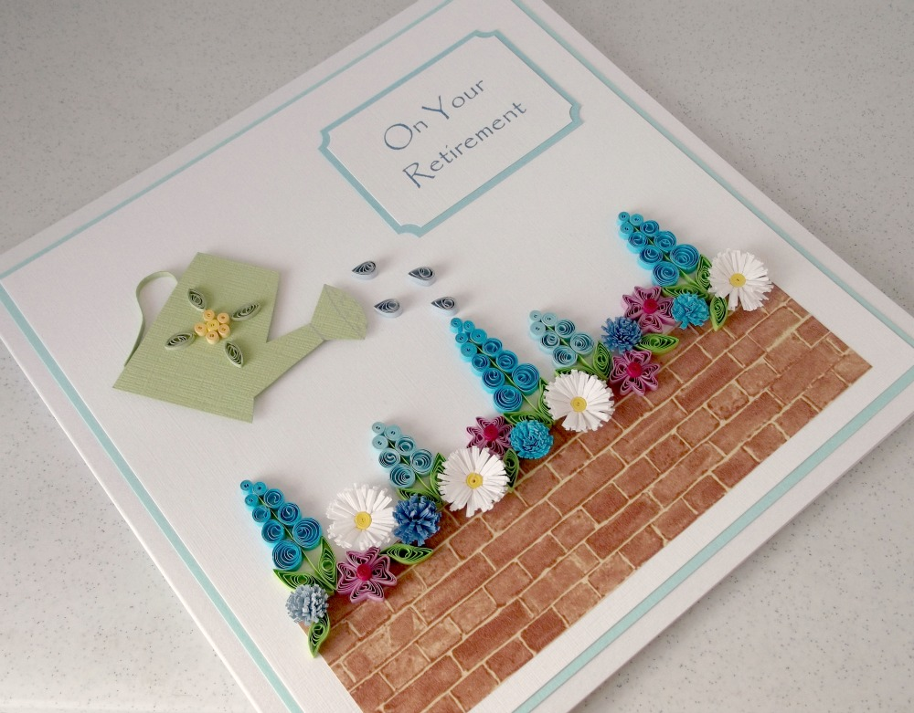 Ideas For Retirement Cards To Make Part - 17: Quilled Retirement Card