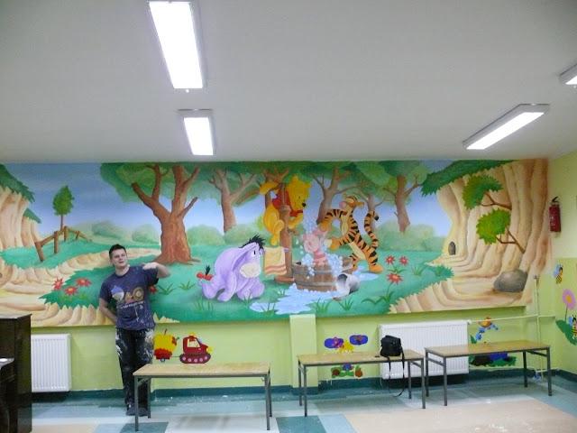 Malowanie obrazu ściennego, aranżacja pokoju dziecięcego, Warszawa