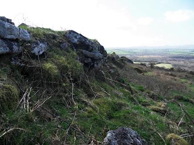 Boundary walls of a settlement on Helman Tor Cornwall