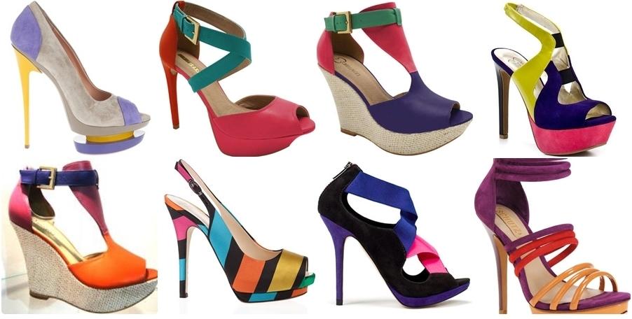 Lançamentos sandálias coloridas 2014