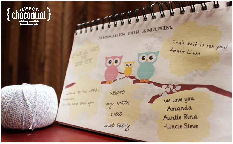 Itu0027s A Sweet ChocoMint Day: Personalized Guest Books