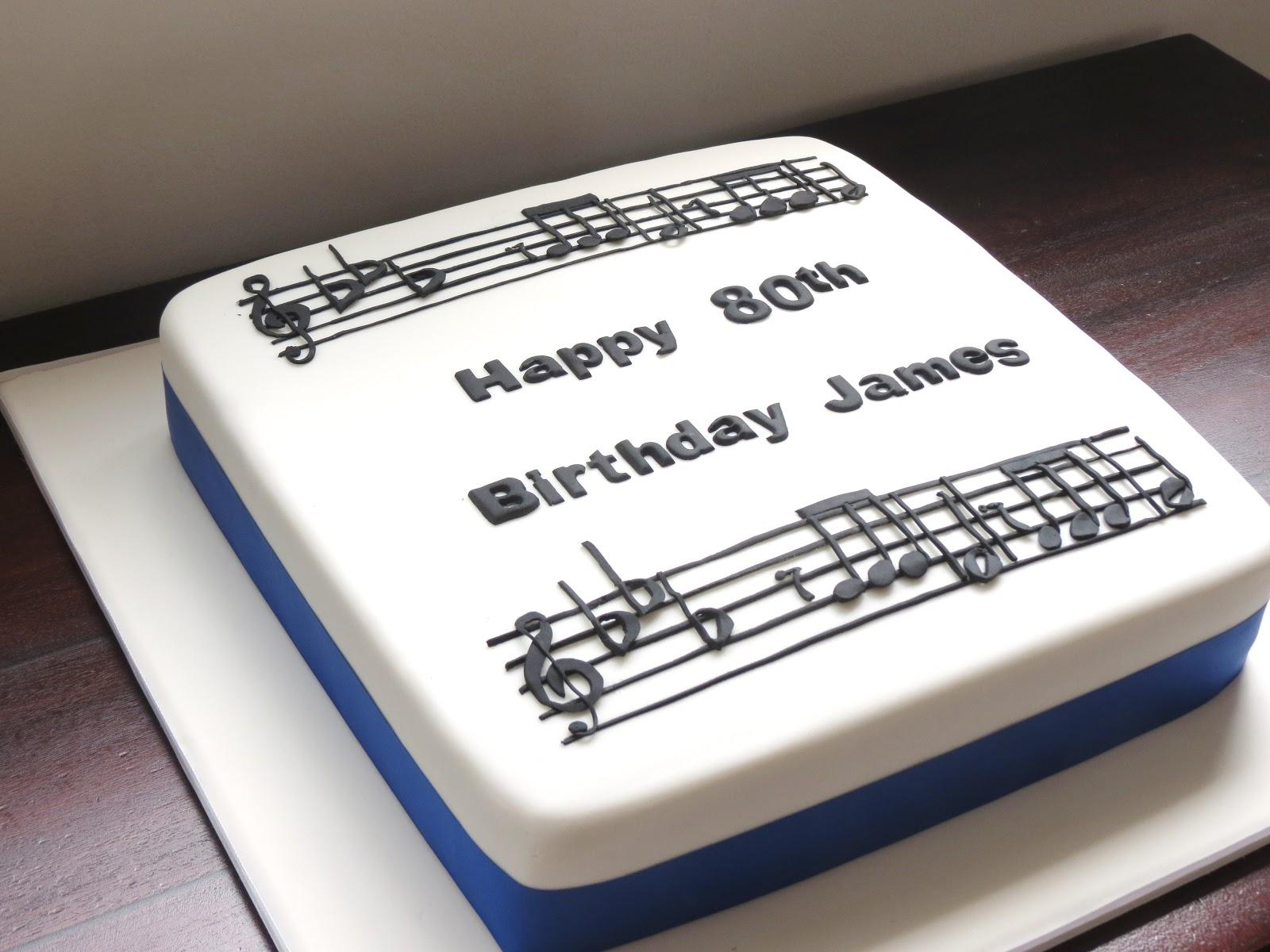 Rachel Warner Cakes Classical Music 80th Cake