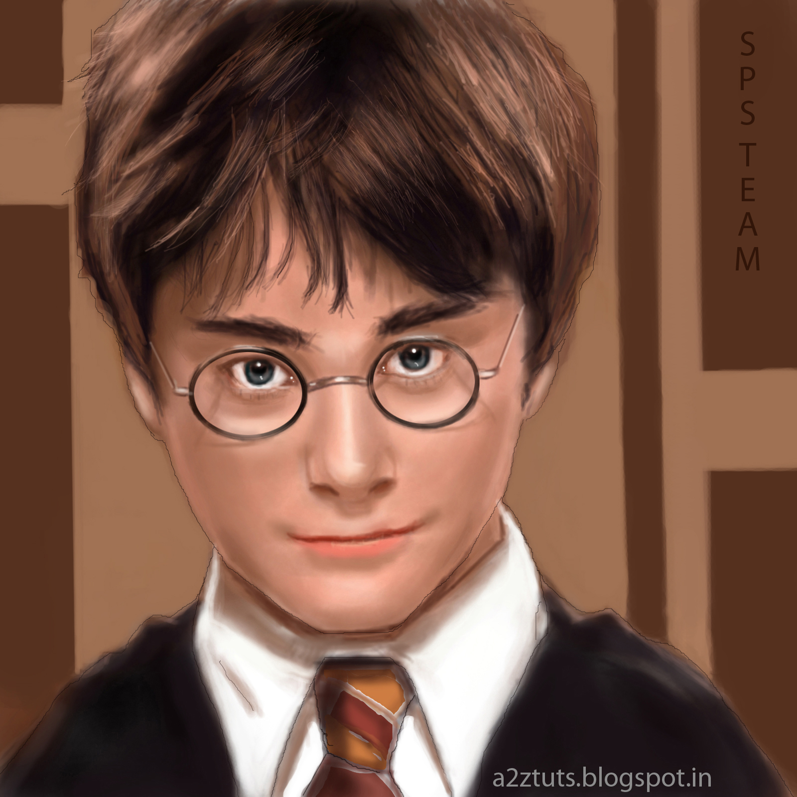 DIGITAL PAINTING OF HARRY POTTER