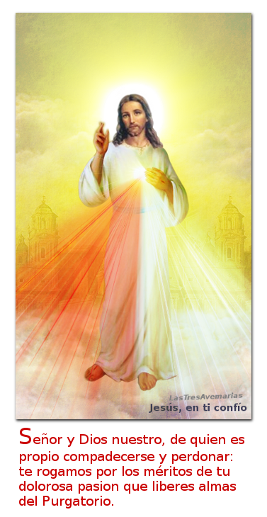 divina misericordia para las animas santas del purgatorio