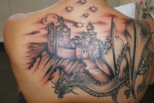 Wild tattoos dragon tattoos for Medieval dragon tattoo
