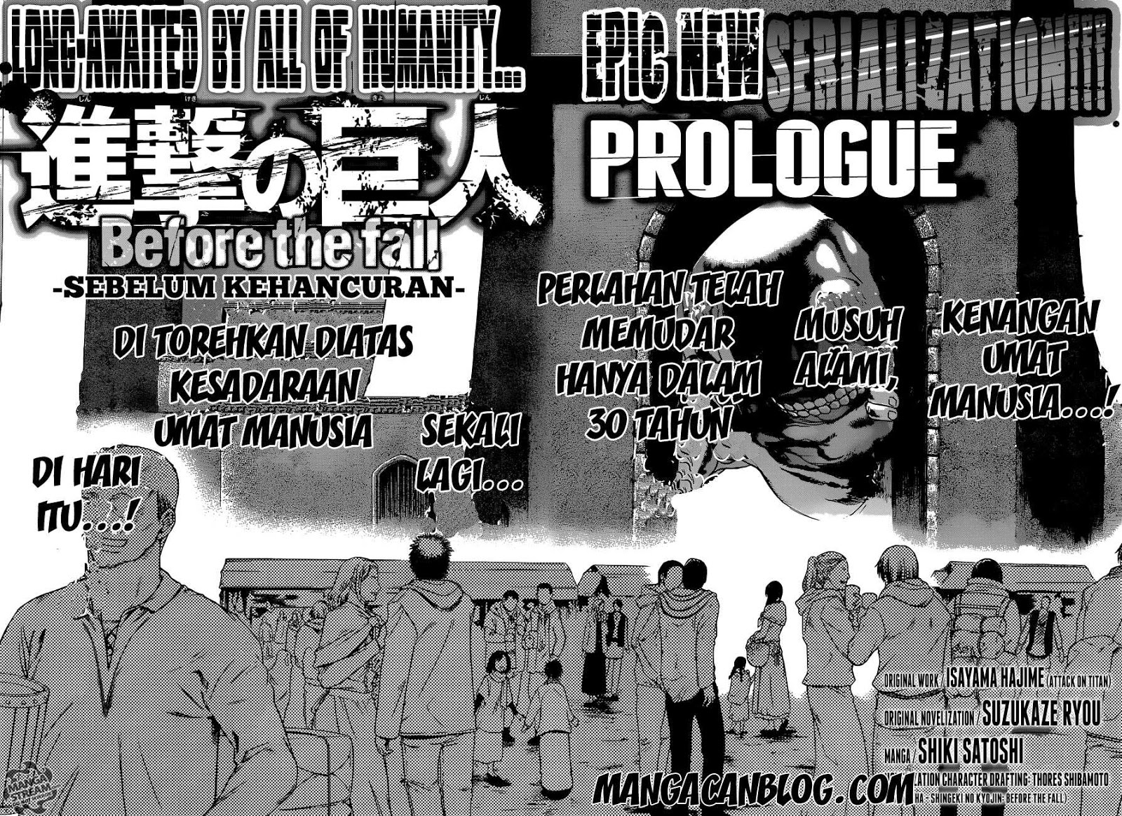 Komik attack on titan before the fall 000 - prologue 1 Indonesia attack on titan before the fall 000 - prologue Terbaru 2|Baca Manga Komik Indonesia|Mangacan