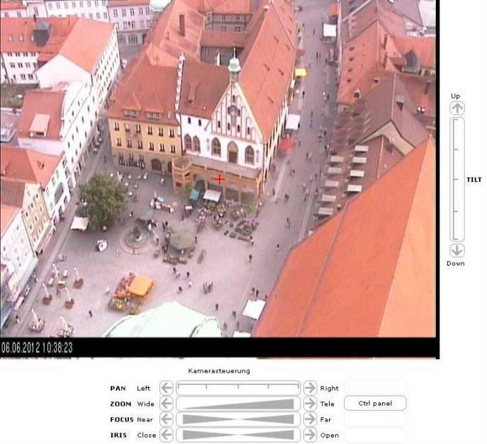 Steuerbare Webcam auf dem Martinsturm
