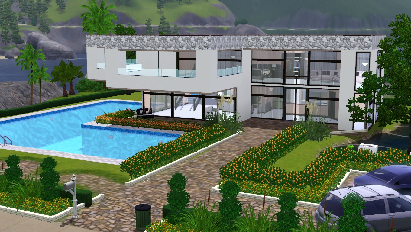 The sims giuly download e tutorial di the sims 3 casa moderna - The sims 3 case moderne ...