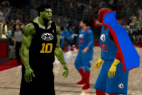 NBA 2K12 Justice League vs The Avengers vol. 3  Mod