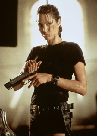 angelina jolie wanted gun. angelina jolie tomb raider