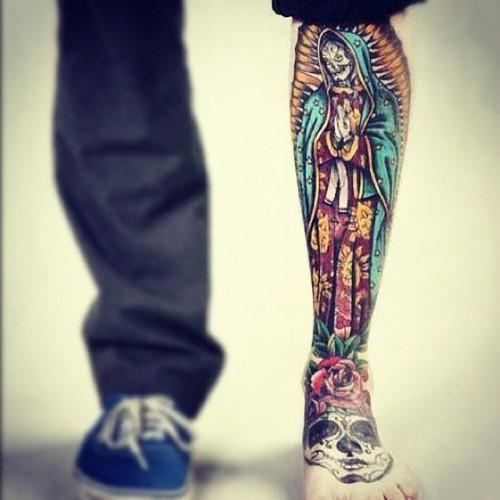 tatuaje de la santa muerte