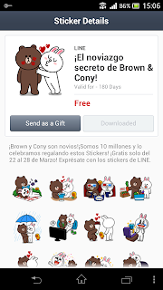Line stickers in Spain