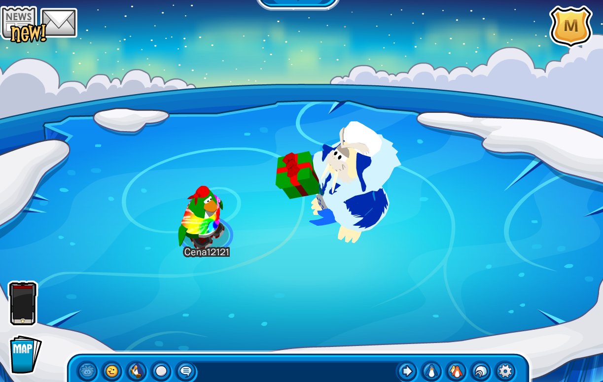 Club Penguin Merry Walrus Blue Crystal Puffle Cheats