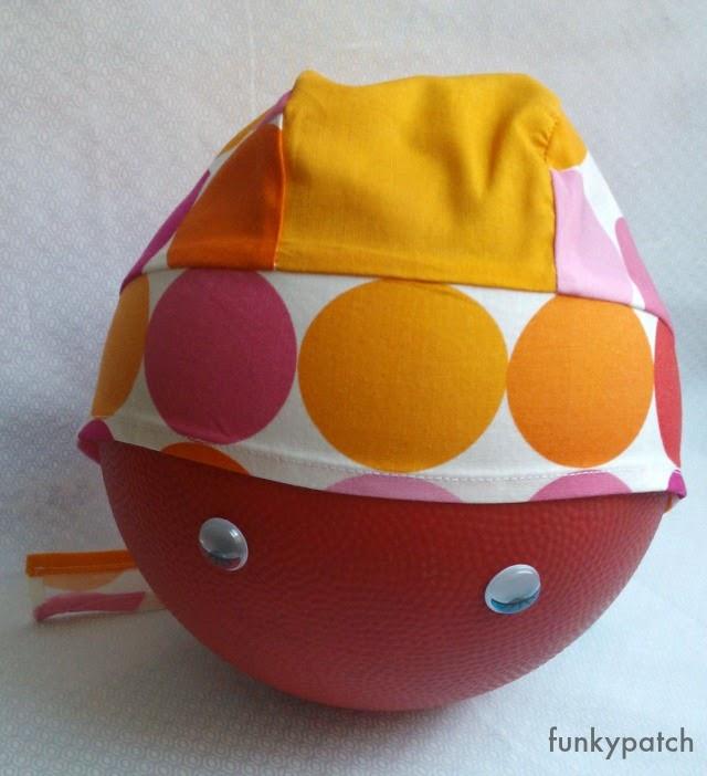 bandana para niños en naranja y rosas handmade by funkypatch