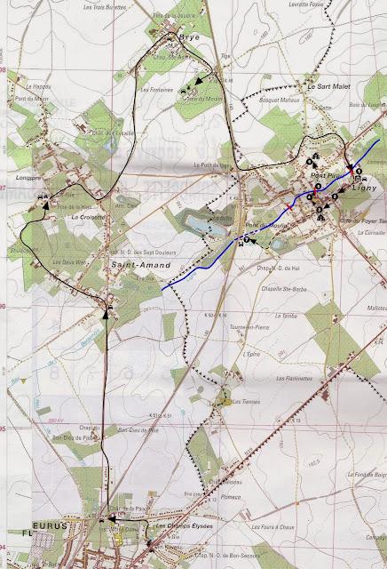 Route around Ligny Battlefield