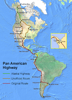 About the Panamerica overland journey, from paperwork, border crossing, shipping till many travelogues
