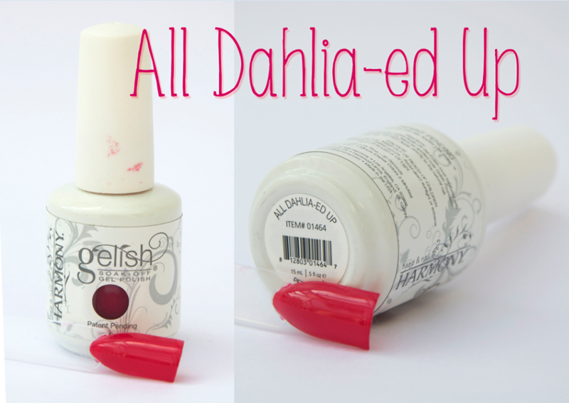 Gelish All Dahlia-ed Up Spring Summer Gel Nail Varnish Pink