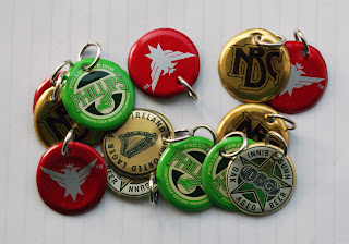 recycled bottle cap charms