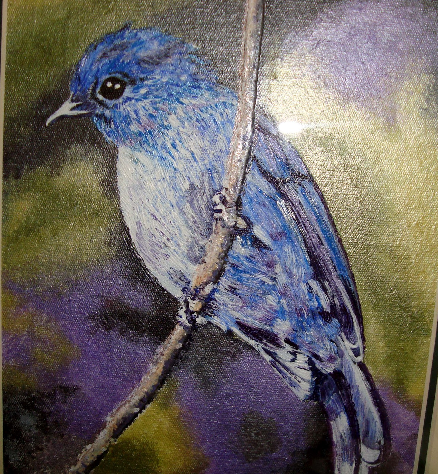 Gallery bird painting acrylic for Painting with acrylic paint