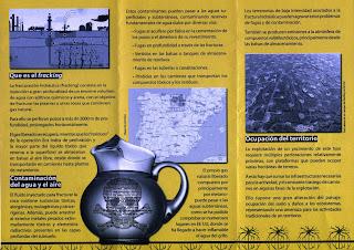 27 de junio de 2013 Concentración  triptico Fracking No Zaragoza