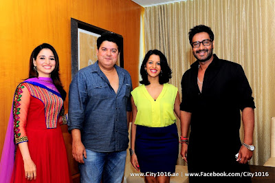 Ajay Devgan & Tamanna at Himmatwala Press Conference in Dubai