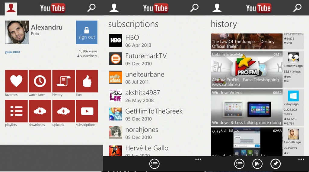 YouTube app Back to Windows Phone (Update: Google Back Block!)