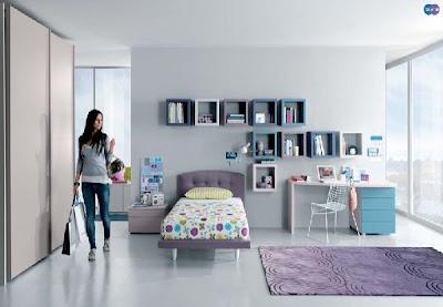 dormitorio juvenil moderno malva