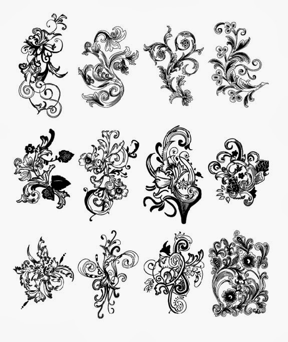 Free Floral Vector Brush Pack