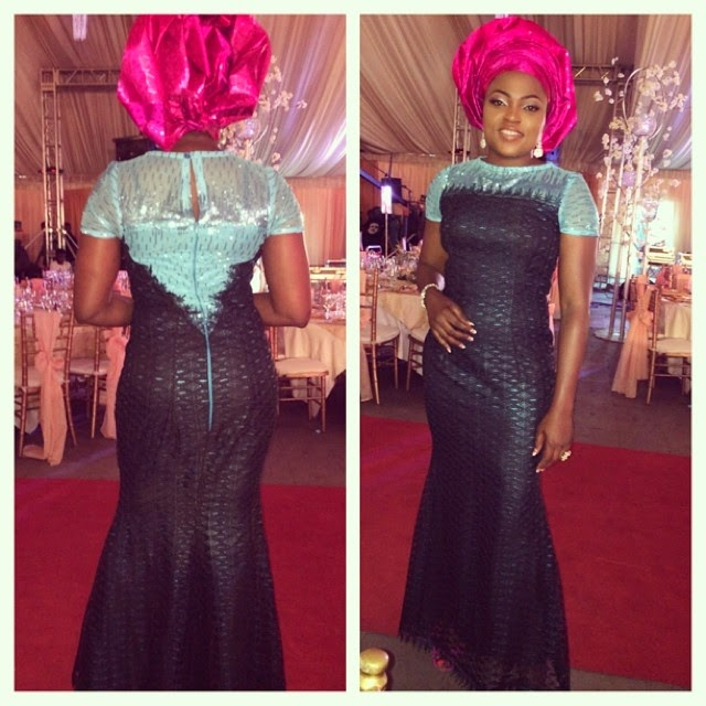 Funke Akindele's Gorgeous Dress to Dr Sid and Simi's Wedding