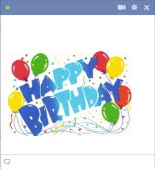 Happy Birthday Facebook Emoticon