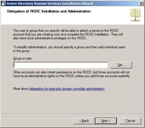 Hardware and networking rodc attach the server to the rodc account that you are creating as shown in the following figure you can type the name of only one security principal yadclub Images
