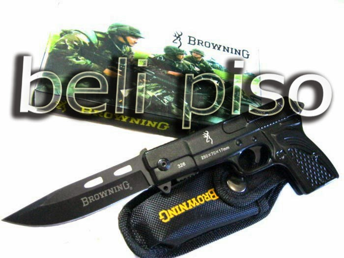 Jual Pisau Lipat + Pistol Mini Browning belipiso.com
