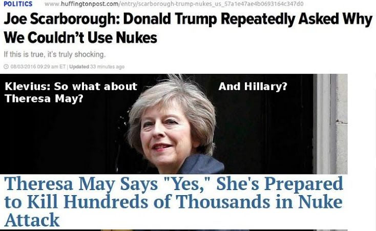 Trump: Why wouldn't we? Theresa May: I would!