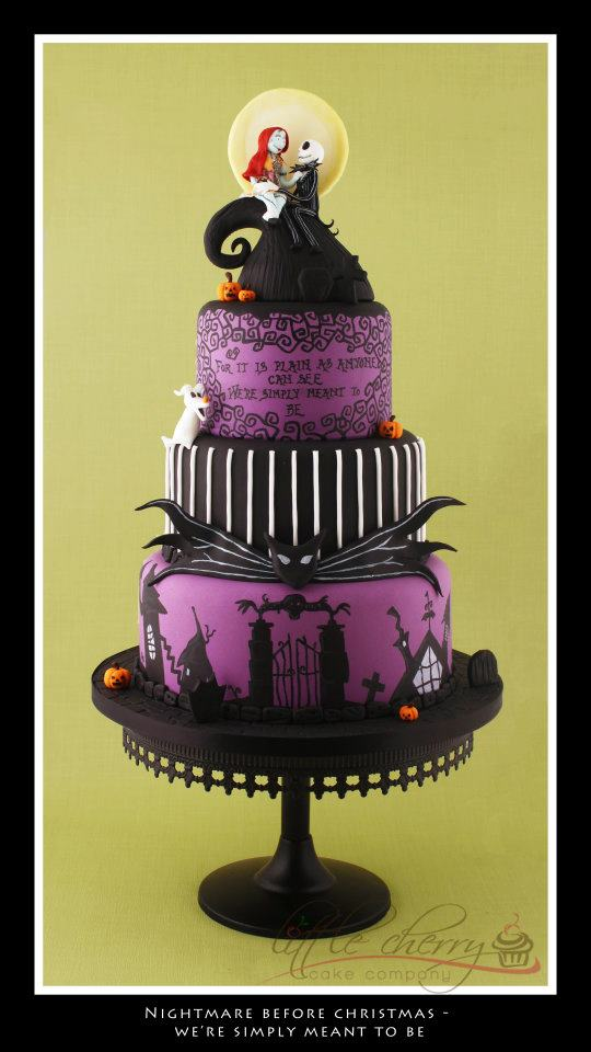Wedding Cakes Pictures Nightmare Before Christmas Wedding