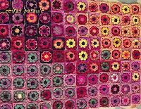 African Flower kvadrātiņu sega