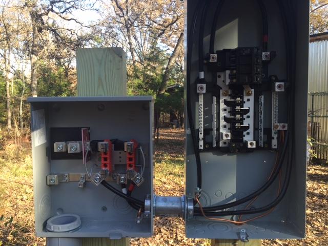 dreams by the acre  dec 6  power pole   meter base set Residential Breaker Box Diagram Breaker Box Layout