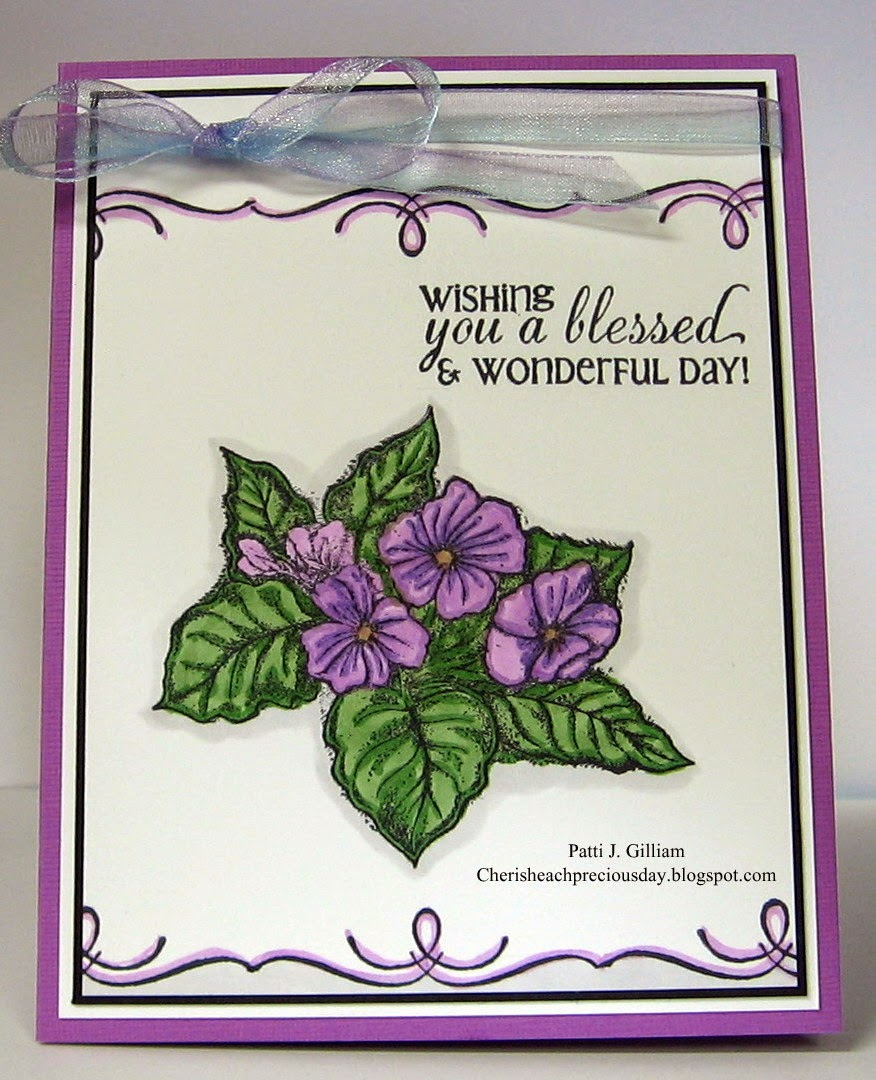 Stamps  - Our Daily Bread Designs Flourished Verses, Violet