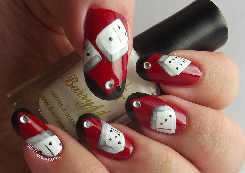 Here Are Some More Nails I Created While In England Thought It Would Be Fun To Try And Create Freehand Dominoes