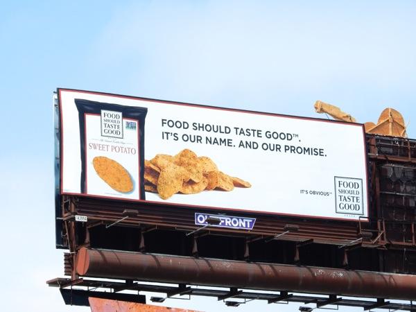 Food Should Taste Good name promise chips billboard