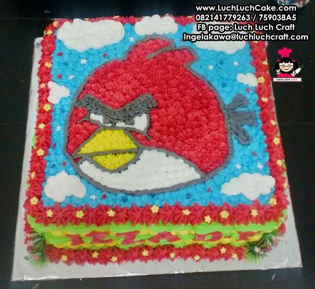 Kue Tart Angry Bird Daerah Surabaya - Sidoarjo