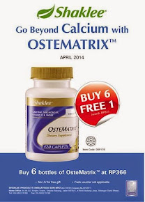 April 2014 Offer :Ostematrix. Buy 6 Free1