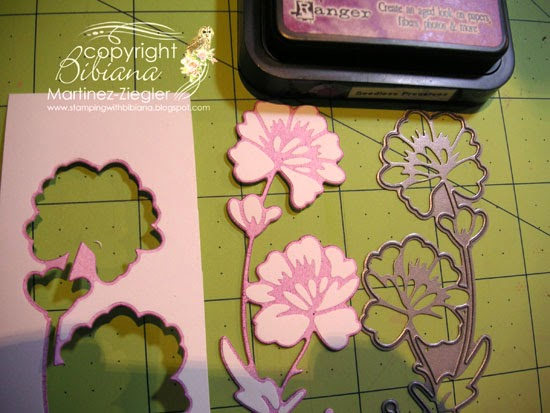 flower border edge card coloring the die directly result
