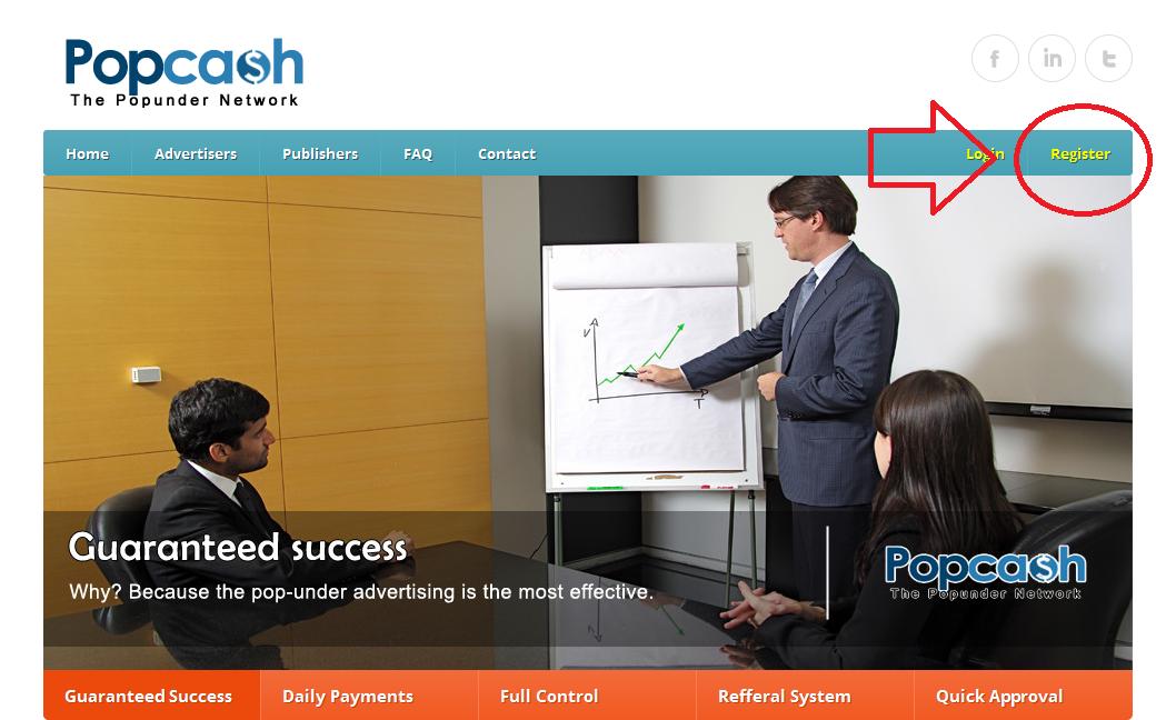 Cara Mendaftar CPM Popcash.net