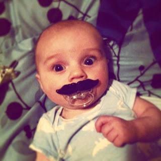 Gambar bayi lucu pakai kumis 27